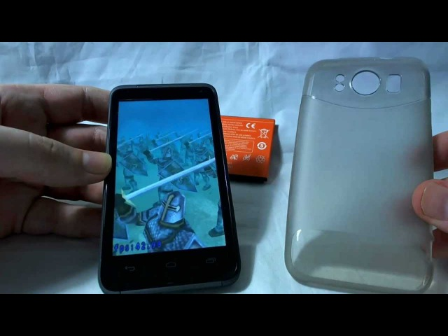V1277 MT6577 Dual Core Dual SIM Android Handy Review Unboxing CECT
