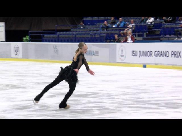 2016 ISU Junior Grand Prix Ostrava Ladies Short Program Alisa LOZKO RUS