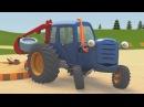 Развивающие мультики про машинки Трактор Гоша Большой грузовик на игровой площадке