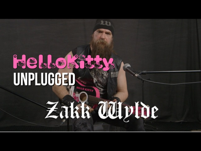 Zakk Wylde Plays Black Sabbath on Hello Kitty Mini Guitar