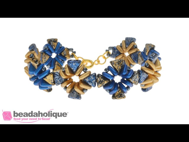 How to Make the Ancient City Bracelet using Kheops Par Puca and Czech Glass 2 Hole Triangle Beads