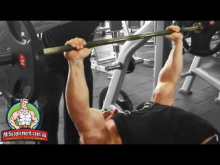 Marcus Ruhl's Barbell Bench Press   Chest Exercise #2