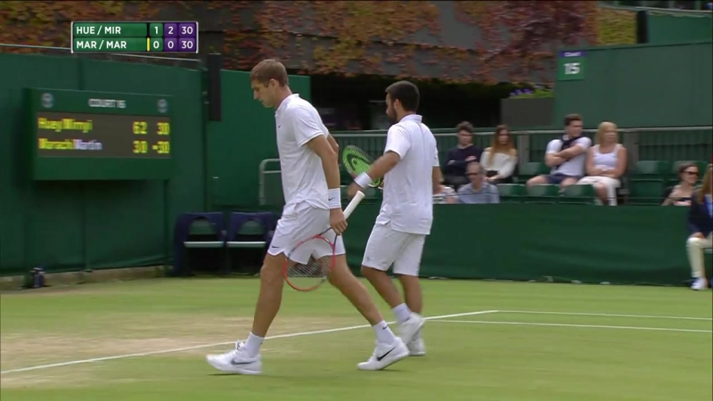 Treat Huey Max Mirnyi vs Oliver Marach Fabrice Martin 2016 Wimbledon 3rd Round