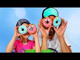 ЧЕЛЛЕНДЖ ПОНЧИК Вызов Принят Челлендж угадай вкус пончика DONUT CHALLENGE