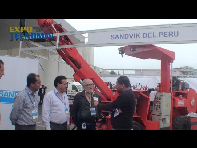 Perforadora jumbo DD210 de Sandvik fue vendida a compañía minera Lincuna en Expotecnomin 2014