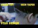 ⭐Under Cut Design Skin Taper Star Design Womens Fade Corte de pelo Kv7