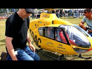 THE WORLDS BIGGEST RC SCALE MODEL TURBINE HELICOPTER EC-135 ADAC NOTARZT CHRISTOPH 33