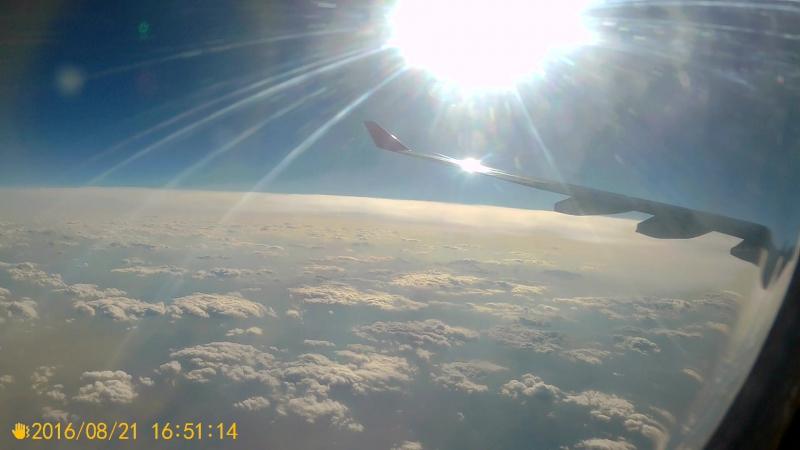 полет над Индийским океаном.