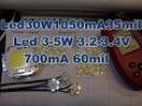 Led 30W 1050mA 35mil Led 3W 3 2 3 4V 700mA 60mil реальная мощность