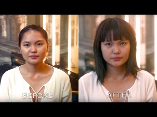Cutting a loose Mid-Length shape with a Strong Fringe (Bangs) on Indian/Asian Hair | By Adam Ciaccia