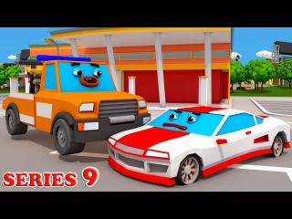 Cars Town: The Tow Truck gets lost the Racing Car | SeeZis Animations | Cars cartoon Episode 9