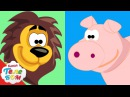 Учим Животных с Киндер сюрпризами 1 Часть. Развивающие мультики для самых маленьких