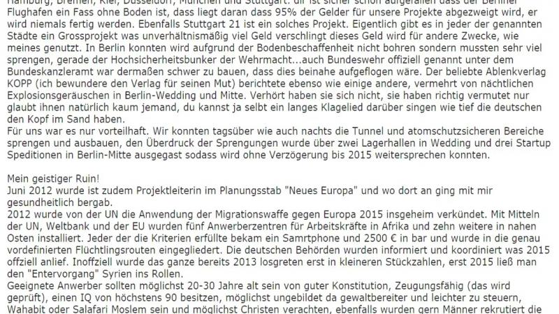 ZERBERSTER ZUSCHAUERPOST - TEIL 10- DIPLOM INGENIEURIN ÜBER FLÜCHTLINGE DEUTSCHLANDS ZUKUNFT!