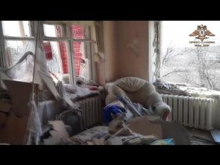 Тяжелый обстрел поселка Донецк-Северный