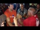 Mike Gould vs Devon Larratt Arm Melter - Brockville ribfest 12 aug 2017 left hand open class