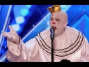 Sad Shy Clown With His Mind Blowing Version of Sia's Chandelier | Week 1 | America's Got Talent 20