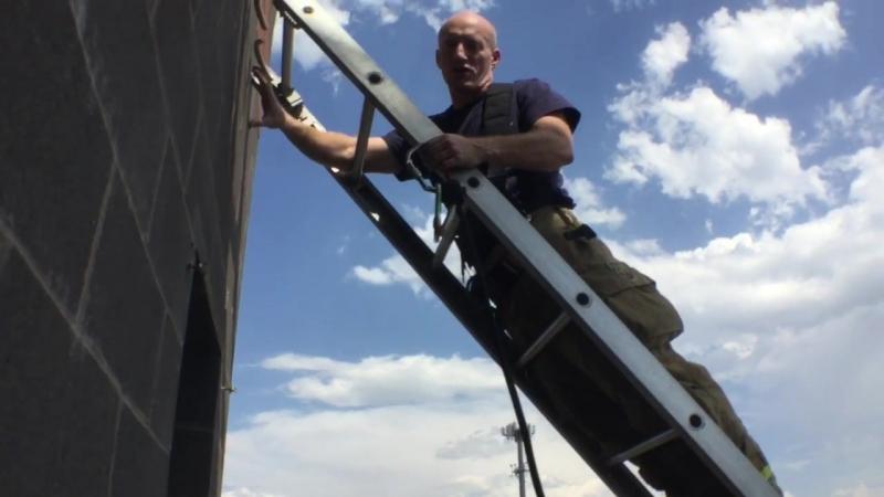 Ground Ladder Highpoint Rescue Method