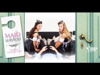 #vron eveline dellai, silvia dellai (maid services - the dellai twins) [ hotel, sexy maid, threesome, vr, 1440p] [gearvr]