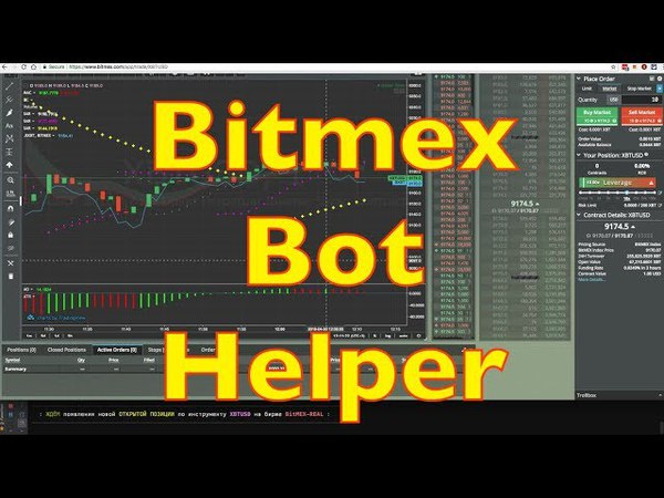 Bitmex Bot Helper. Битмекс Бот Помощник. Скрипт для помощи в торговле на бирже Bitmex