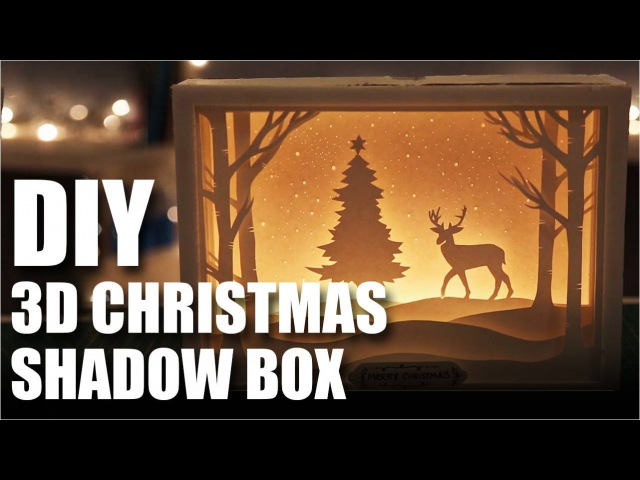 How To Make A DIY 3D Christmas Shadow Box Card