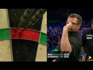 James Wade vs Gary Anderson (PDC European Championship 2016 / Round 1)
