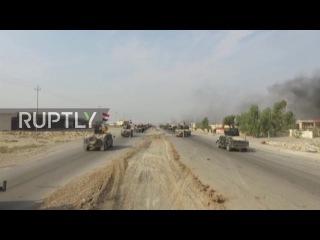 Ирак: Дрон кадры захватывает Иракские военные построил к востоку от Мосула.