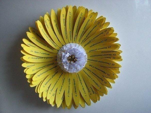 цветок в подарок с сотней пожеланий них нитевой