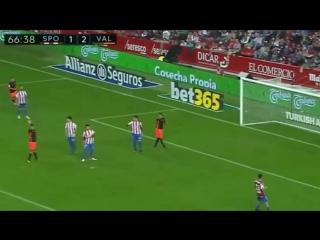Sporting gijon 1 - 2 valencia