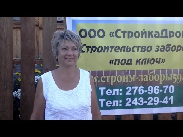 Голощапова Ольга Андреевна. Забор из деревянного штакетника