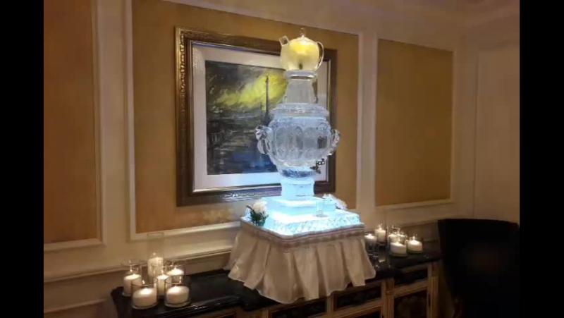 Ледяной самовар в Four Seasons от MariaCrystalIce 7-905-204-77-53
