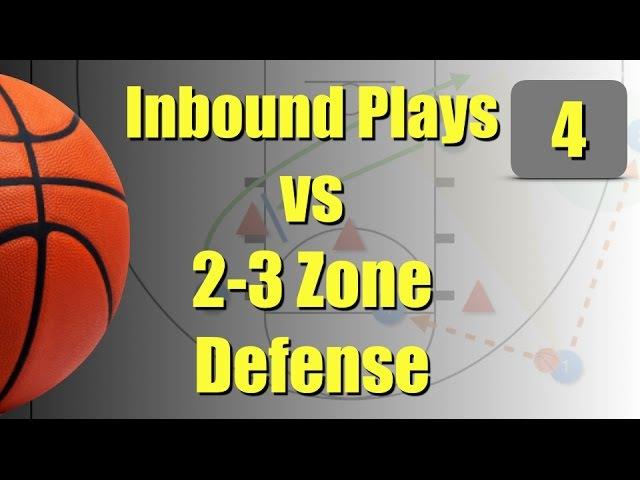 Inbound plays against 2 3 zone