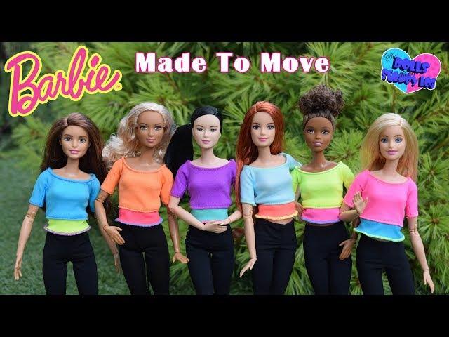 Имена для кукол Барби Безграничные движения / Barbie Made To Move (распаковка)