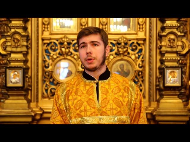 Проповедь чтеца Максима Луканова