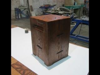 Табурет-кубик из цельного бревна. Cube stool