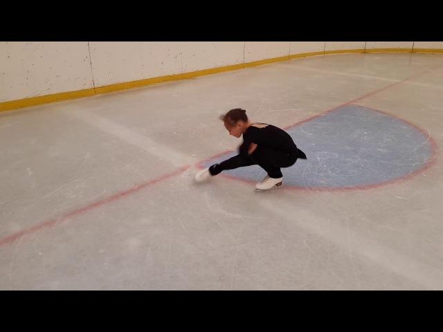Школа А Рябинина Чинян Flying sit spin Элемент фигурного катания Обучение вращениям