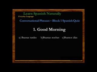 Spanish Quiz | Spanish Test Block 1 | Learn Basic Everyday Spanish