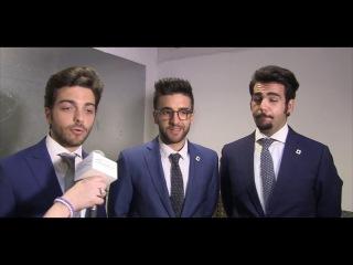 Televideoitalia intervista Il Volo a Düsseldorf