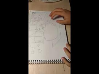 Рисуем мальчика в чашке:3