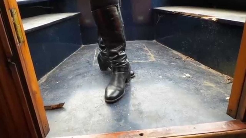 High boot pov and hand trample