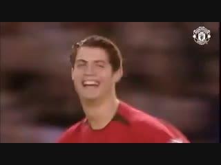 Первый гол Криштиану Роналду за Манчестер Юнайтед