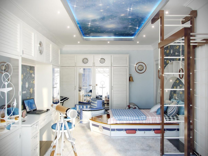 Дизайн интерьера в морском стиле, изображение №14