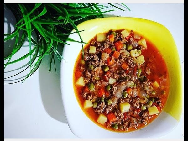 Bezelye Yemeği Турецкая кухня блюдо из зеленого горошка ИЗМИР ТУРЦИЯ