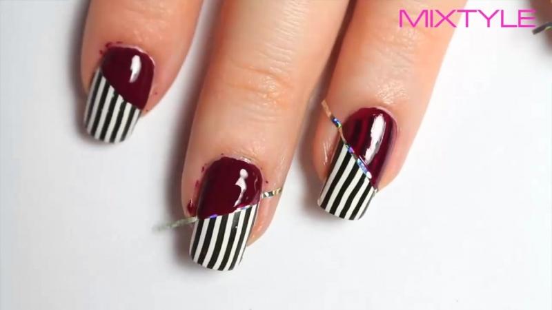 Простые Идеи Дизайна Ногтей со Скотч Лентой 💅 Маникюр с помощью липкой ленты для ногтей