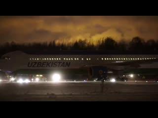 Boeing 767-33P(ER) авиакомпании Uzbekistan Airways Пулково