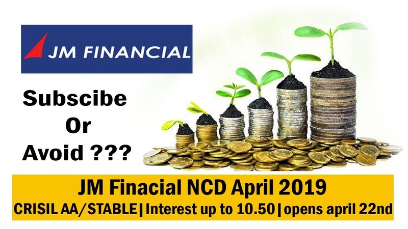 JM Finacial NCD April 2019 Public Issue Price Date Allotment Reviews Status