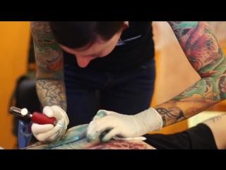 A back piece tattoo tattooed by darcy