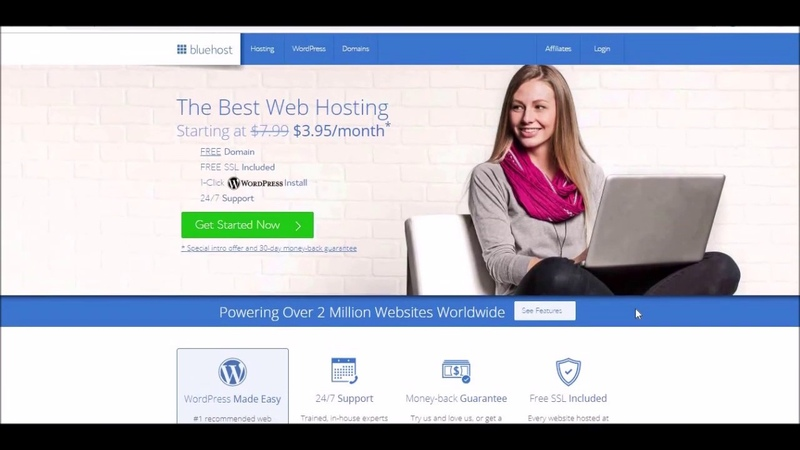 BLUEHOST REVIEW Create a Affiliate Marketing Blog Product or Service Website CHEAP