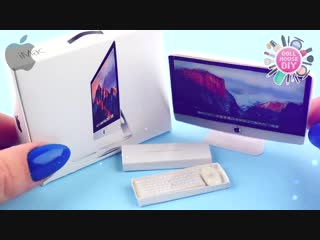 Easy Miniature Apple iMac 5K DIY + PRINTABLES