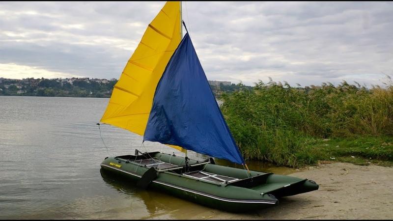 Парус для надувной лодки пвх, катамарана | BOATHOUSE
