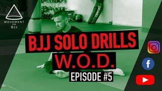 Solo Drills WOD #5 - 10 Minute BJJ / Grappling Workout!